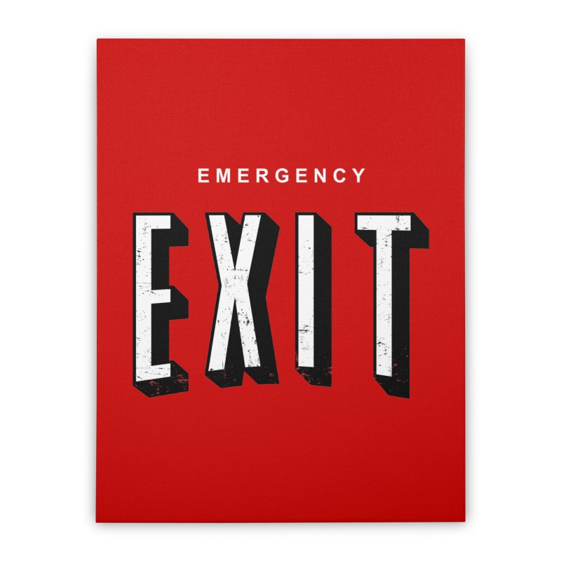 emergency exit Home Stretched Canvas by seronores's Artist Shop