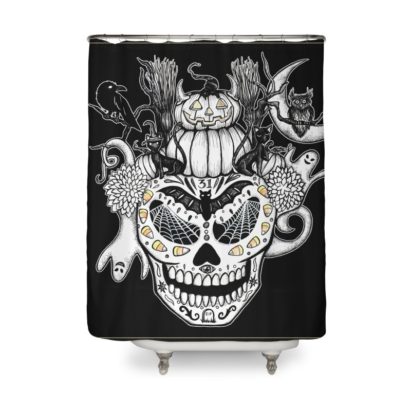 This Is Halloween Home Shower Curtain by serpenthes's Artist Shop
