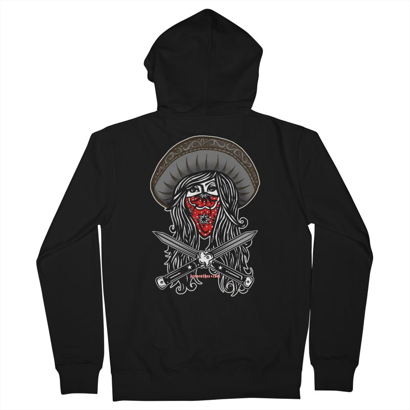 LA BANDIDA OG Women's French Terry Zip-Up Hoody by serpenthes's Artist Shop