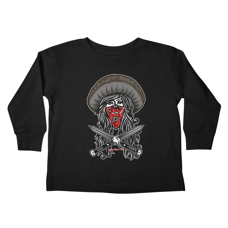 LA BANDIDA OG Kids Toddler Longsleeve T-Shirt by serpenthes's Artist Shop