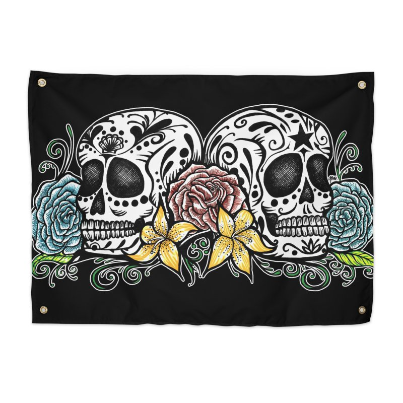 DOS CALAVERAS Home Tapestry by serpenthes's Artist Shop