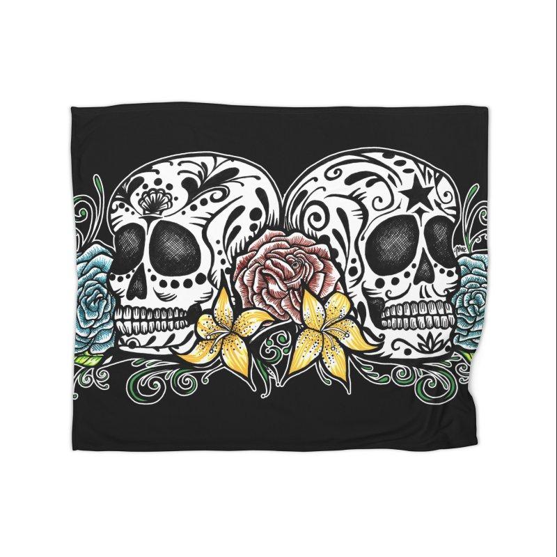 DOS CALAVERAS Home Blanket by serpenthes's Artist Shop