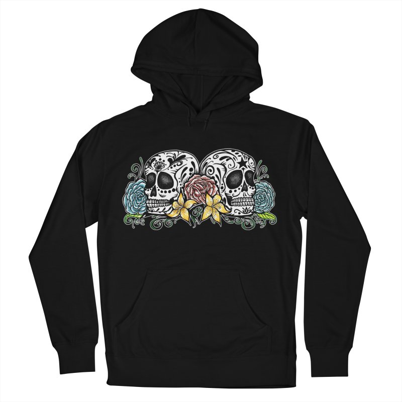 DOS CALAVERAS Men's French Terry Pullover Hoody by serpenthes's Artist Shop