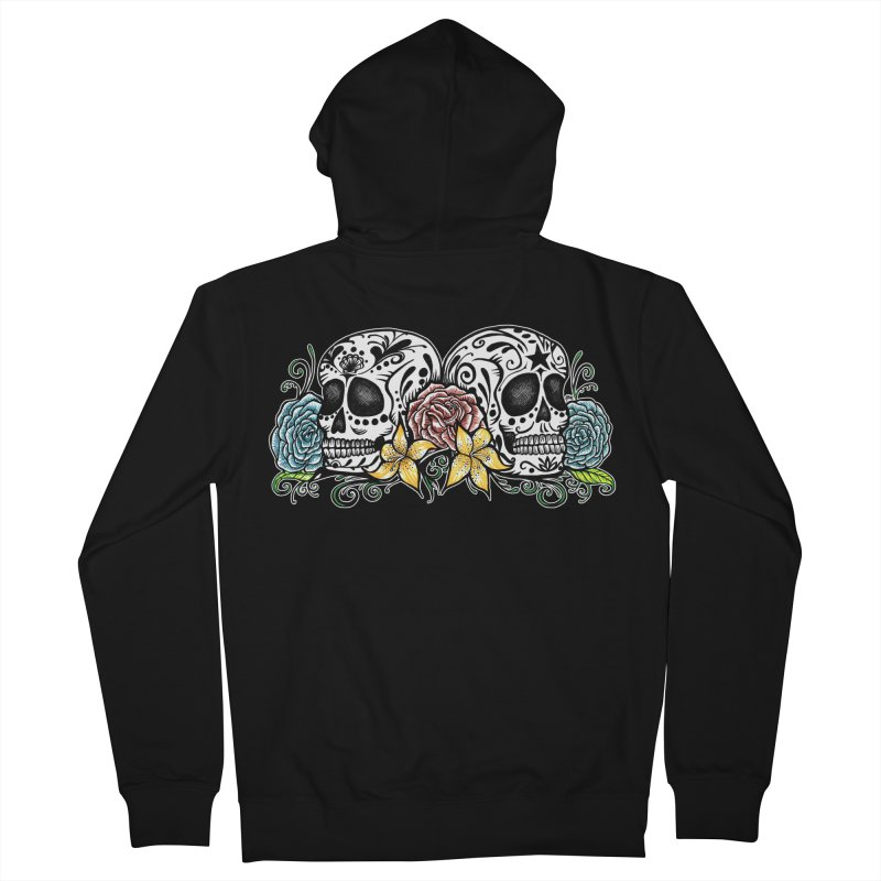 DOS CALAVERAS Women's French Terry Zip-Up Hoody by serpenthes's Artist Shop