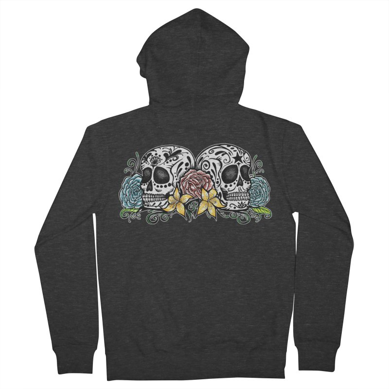 DOS CALAVERAS Men's French Terry Zip-Up Hoody by serpenthes's Artist Shop
