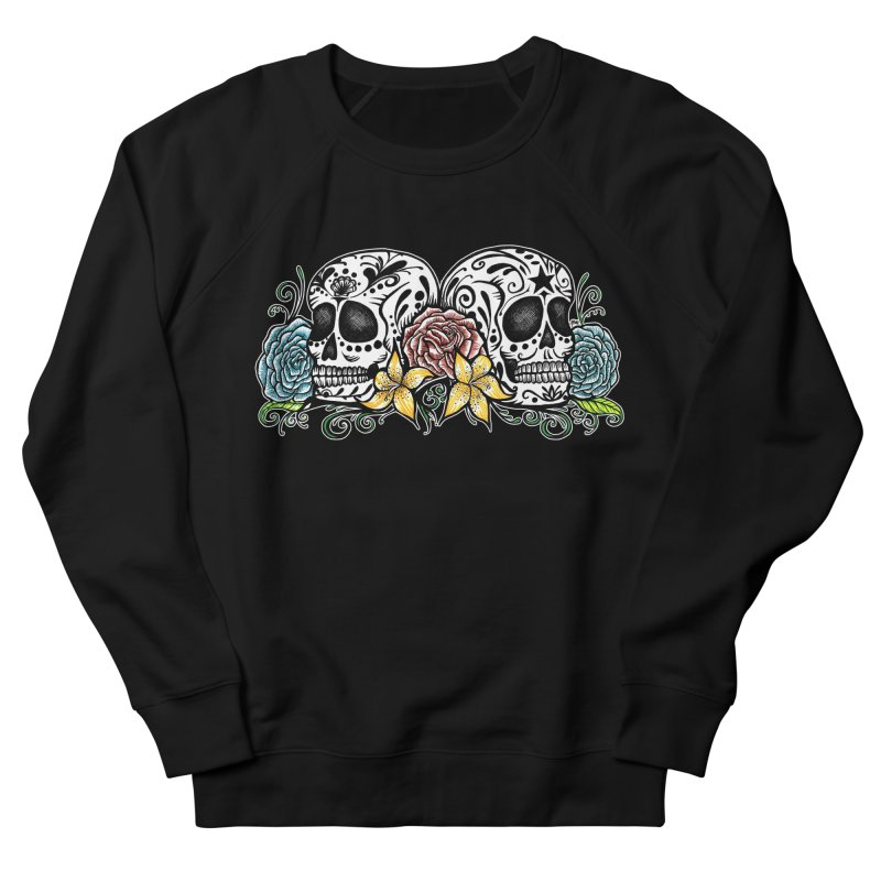 DOS CALAVERAS Men's French Terry Sweatshirt by serpenthes's Artist Shop