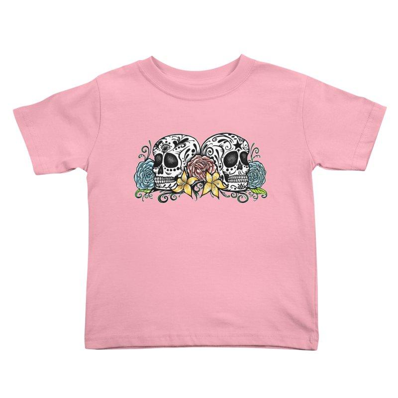 DOS CALAVERAS Kids Toddler T-Shirt by serpenthes's Artist Shop