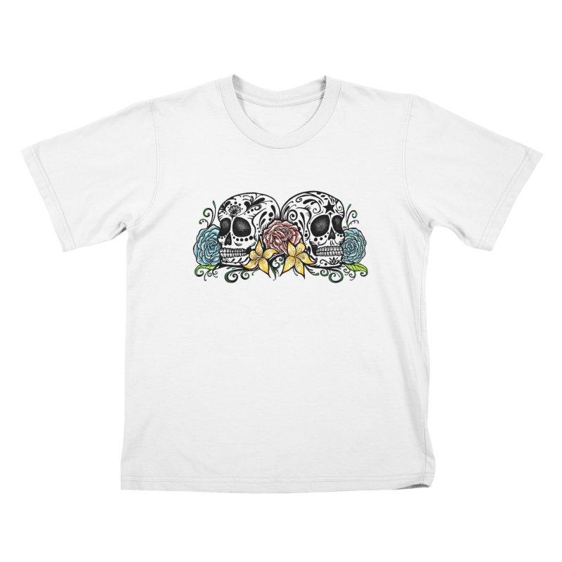 DOS CALAVERAS Kids T-Shirt by serpenthes's Artist Shop