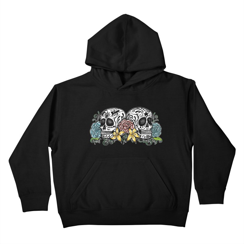 DOS CALAVERAS Kids Pullover Hoody by serpenthes's Artist Shop