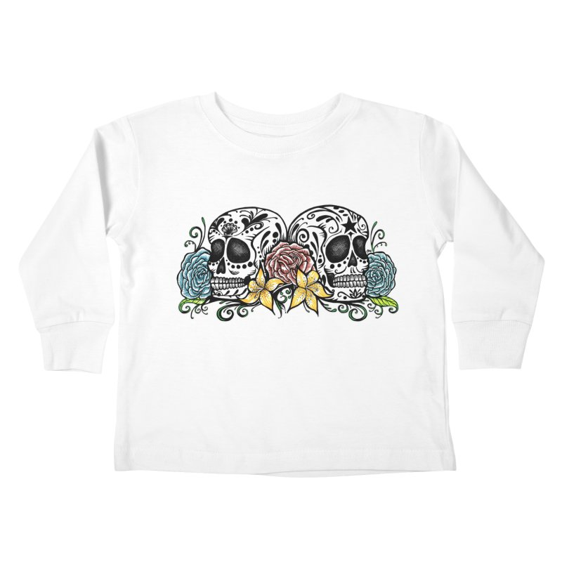 DOS CALAVERAS Kids Toddler Longsleeve T-Shirt by serpenthes's Artist Shop