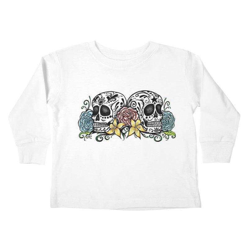 DOS CALAVERAS Kids Toddler Longsleeve T-Shirt by serpenthes's Artist Shop