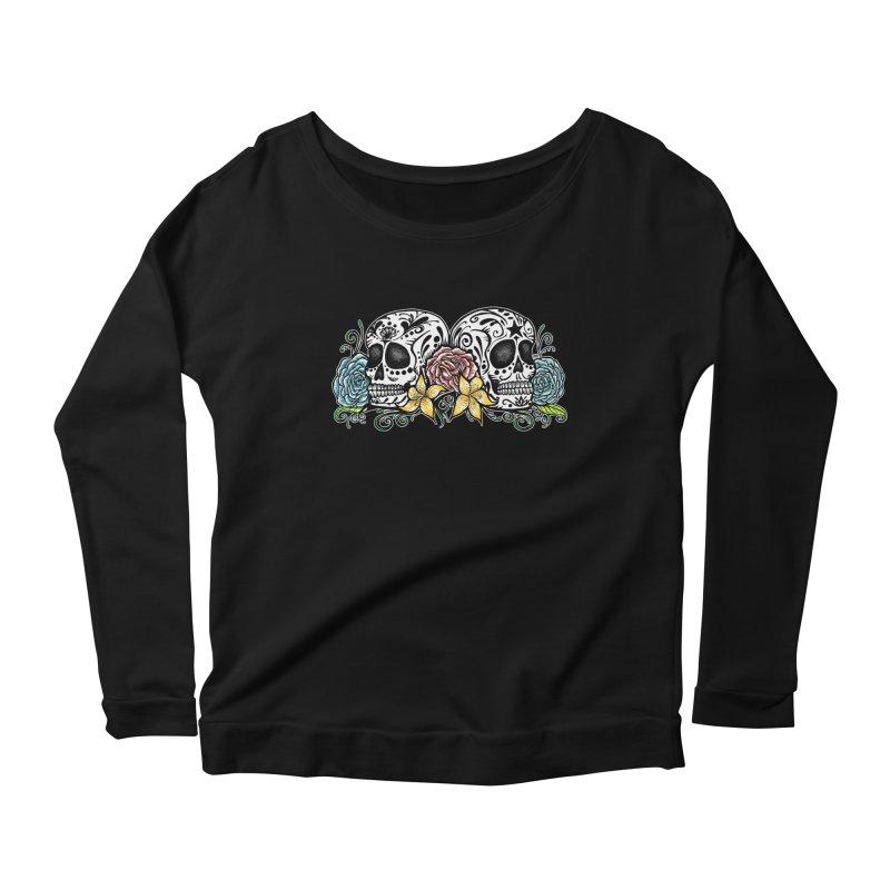 DOS CALAVERAS Women's Scoop Neck Longsleeve T-Shirt by serpenthes's Artist Shop
