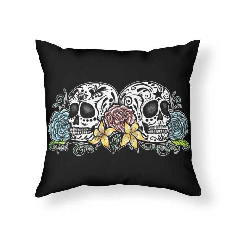 DOS CALAVERAS Home Throw Pillow by serpenthes's Artist Shop