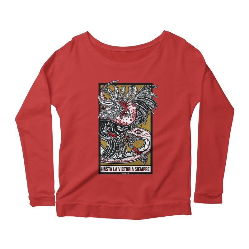 Hasta La Victoria Siempre Women's Scoop Neck Longsleeve T-Shirt by serpenthes's Artist Shop