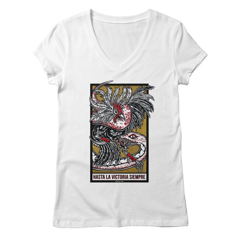Hasta La Victoria Siempre Women's Regular V-Neck by serpenthes's Artist Shop