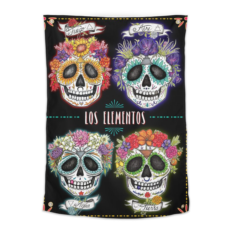 LOS ELEMENTOS Home Tapestry by serpenthes's Artist Shop
