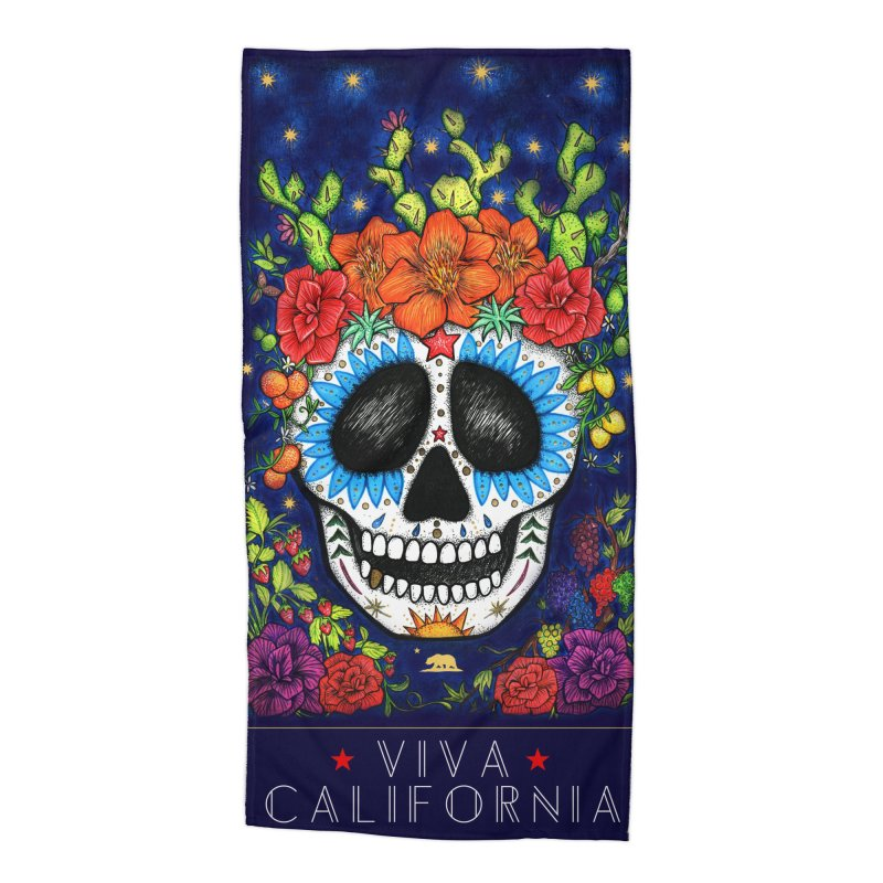 Viva California Accessories Beach Towel by serpenthes's Artist Shop