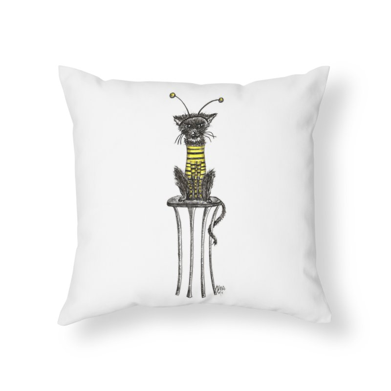 HE LOVES IT! Home Throw Pillow by serpenthes's Artist Shop