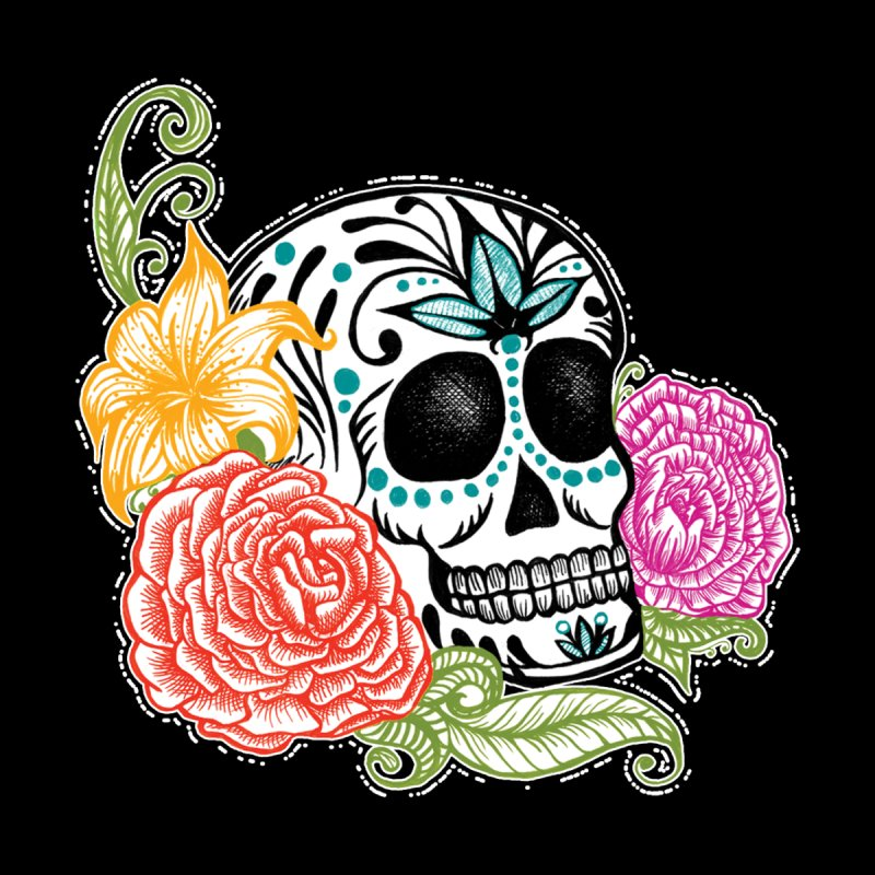 Calavera y Rosas None  by serpenthes's Artist Shop