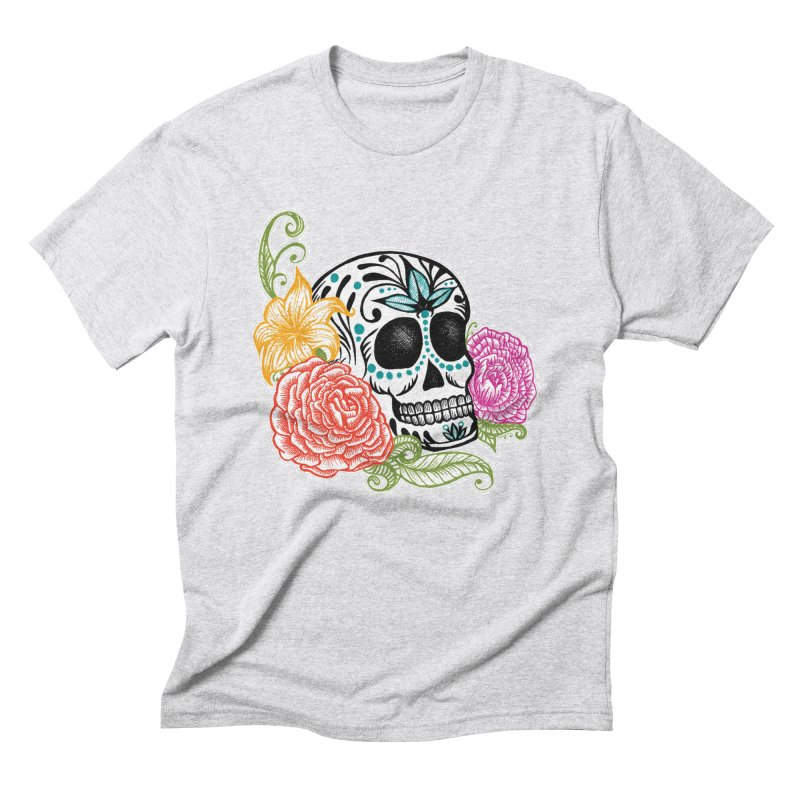 Calavera y Rosas Men's Triblend T-shirt by serpenthes's Artist Shop