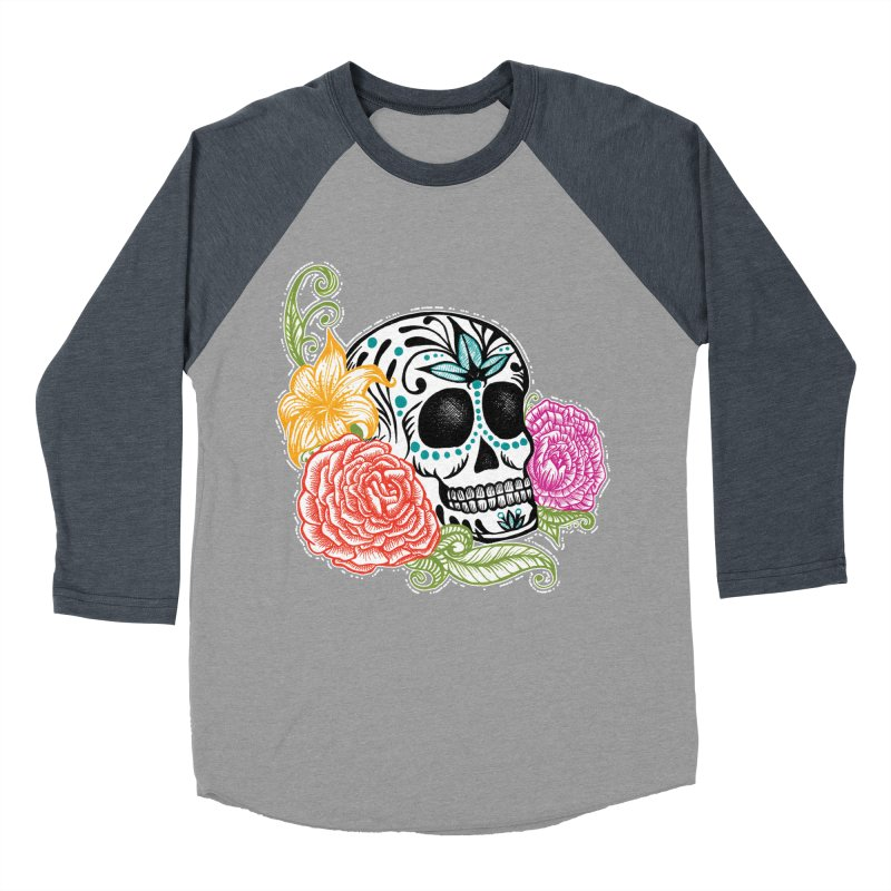 Calavera y Rosas Women's Baseball Triblend T-Shirt by serpenthes's Artist Shop