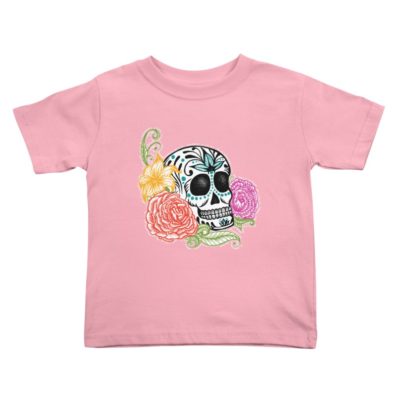 Calavera y Rosas Kids Toddler T-Shirt by serpenthes's Artist Shop