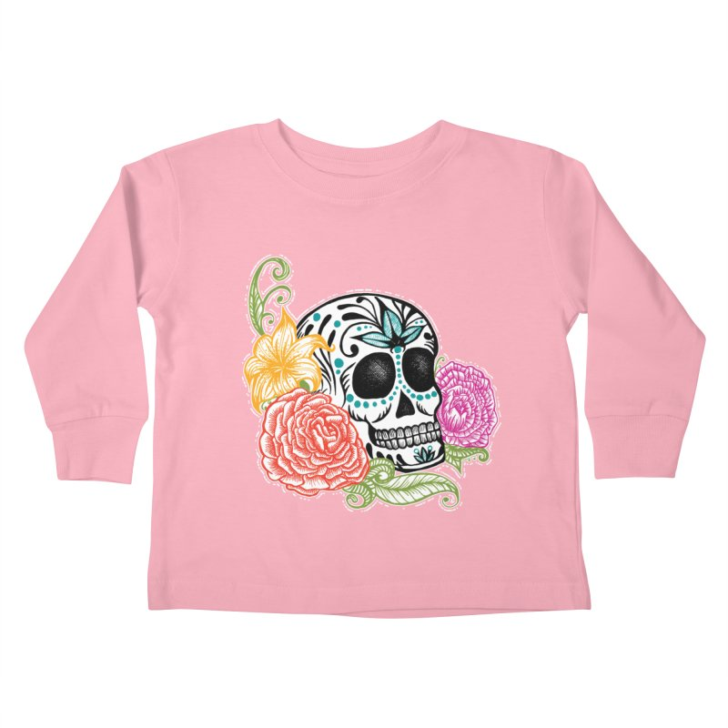 Calavera y Rosas Kids Toddler Longsleeve T-Shirt by serpenthes's Artist Shop
