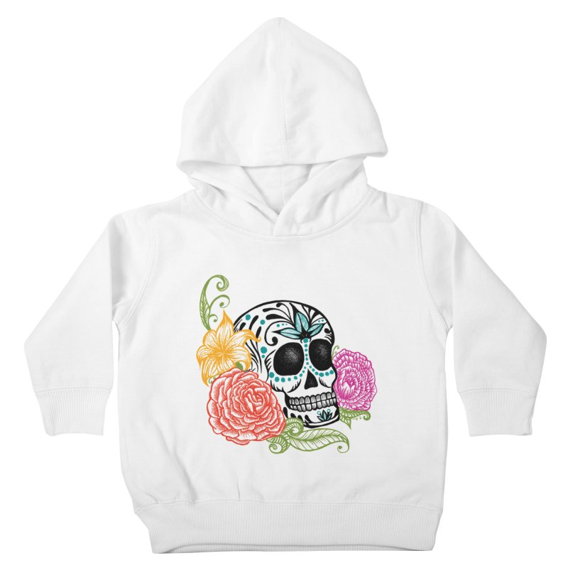 Calavera y Rosas Kids Toddler Pullover Hoody by serpenthes's Artist Shop