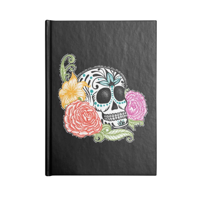 Calavera y Rosas Accessories Notebook by serpenthes's Artist Shop