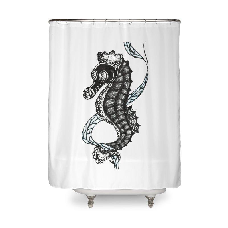 Dockweiler Beach Home Shower Curtain by serpenthes's Artist Shop
