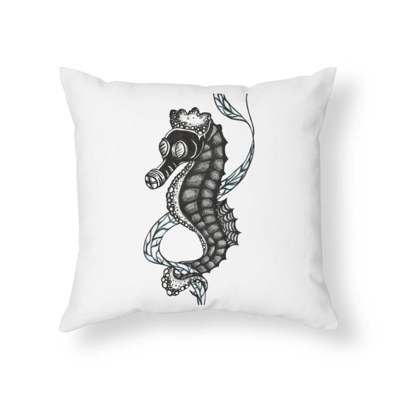 Dockweiler Beach Home Throw Pillow by serpenthes's Artist Shop