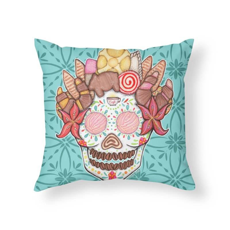 Ofrenda Pan Dulce Home Throw Pillow by serpenthes's Artist Shop