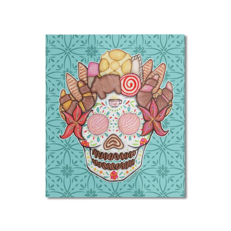 Ofrenda Pan Dulce Home Mounted Aluminum Print by serpenthes's Artist Shop