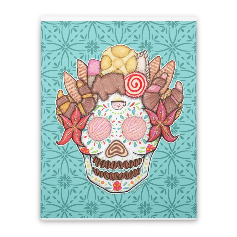 Ofrenda Pan Dulce Home Stretched Canvas by serpenthes's Artist Shop