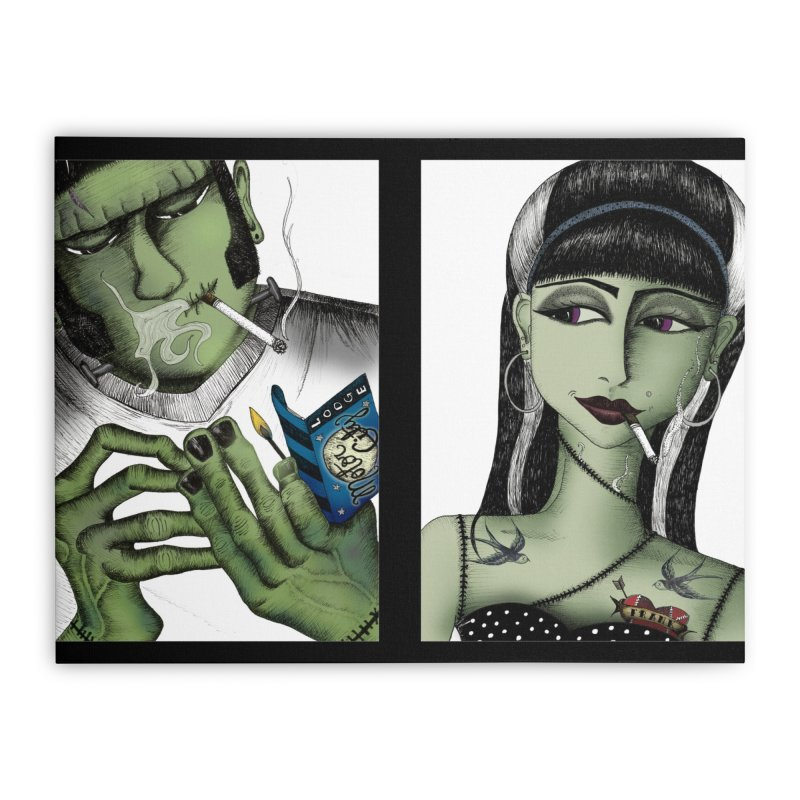 Frank and His Old Lady Home Stretched Canvas by serpenthes's Artist Shop