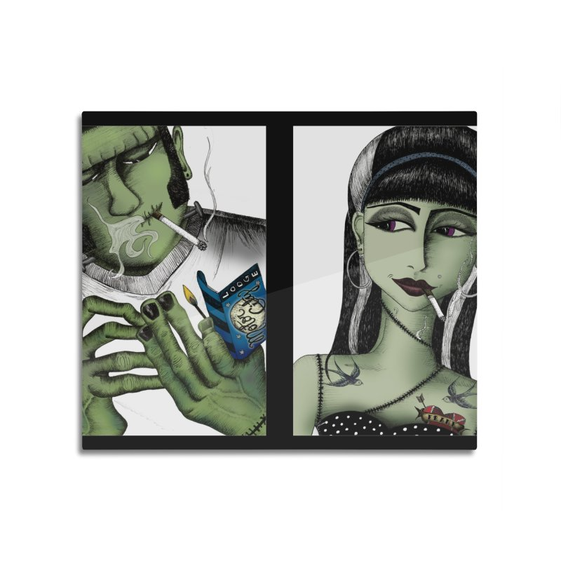 Frank and His Old Lady Home Mounted Acrylic Print by serpenthes's Artist Shop
