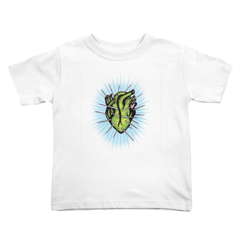 Corazon de Nopal - BLANC Kids Toddler T-Shirt by serpenthes's Artist Shop