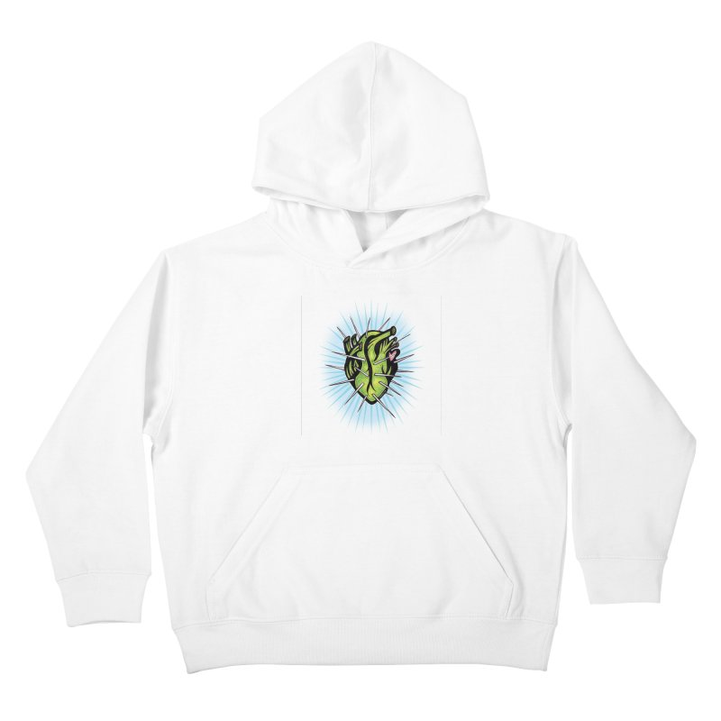 Corazon de Nopal - BLANC Kids Pullover Hoody by serpenthes's Artist Shop