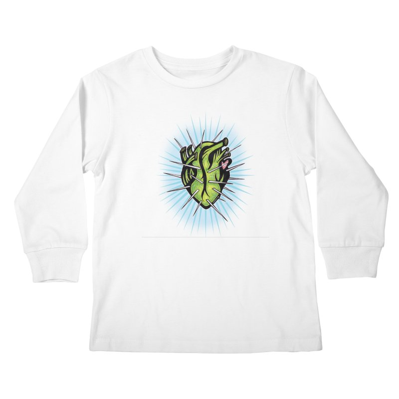 Corazon de Nopal - BLANC Kids Longsleeve T-Shirt by serpenthes's Artist Shop