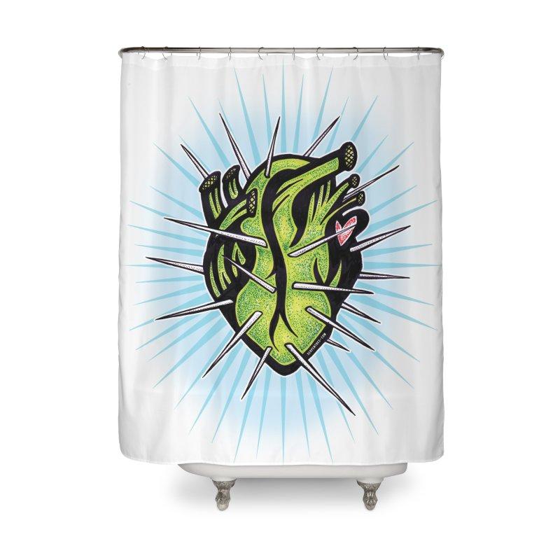 Corazon de Nopal - BLANC Home Shower Curtain by serpenthes's Artist Shop