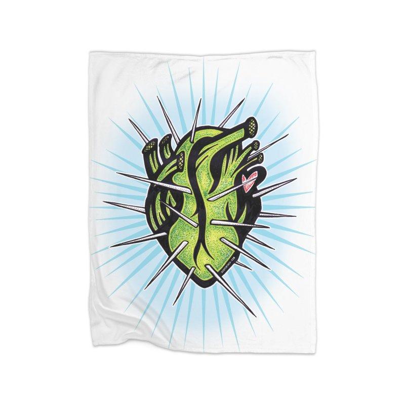 Corazon de Nopal - BLANC Home Blanket by serpenthes's Artist Shop
