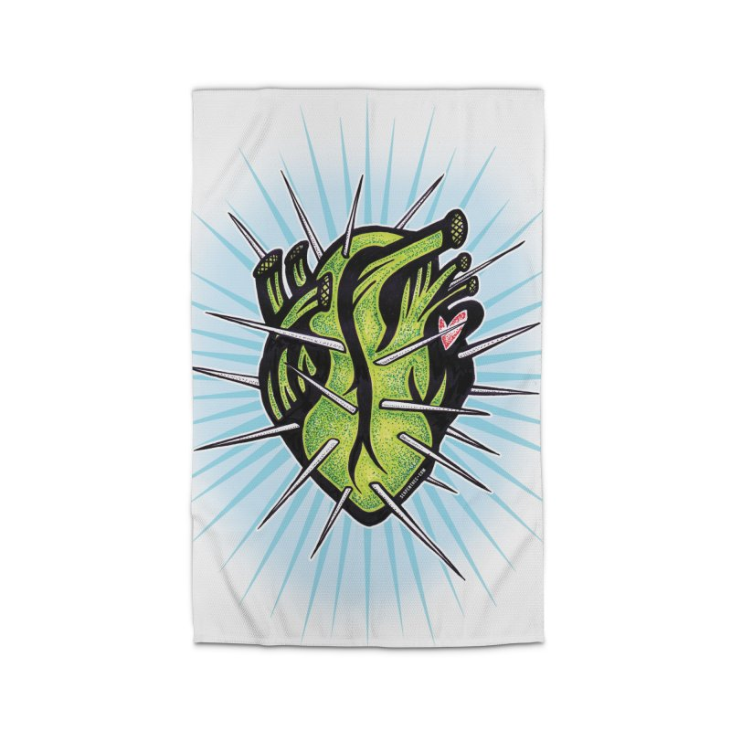 Corazon de Nopal - BLANC Home Rug by serpenthes's Artist Shop