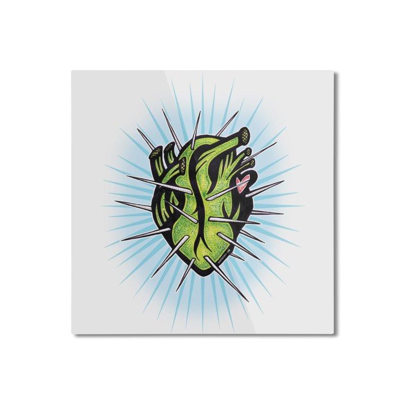 Corazon de Nopal - BLANC Home Mounted Aluminum Print by serpenthes's Artist Shop