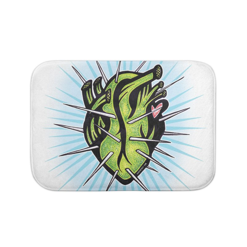 Corazon de Nopal - BLANC Home Bath Mat by serpenthes's Artist Shop