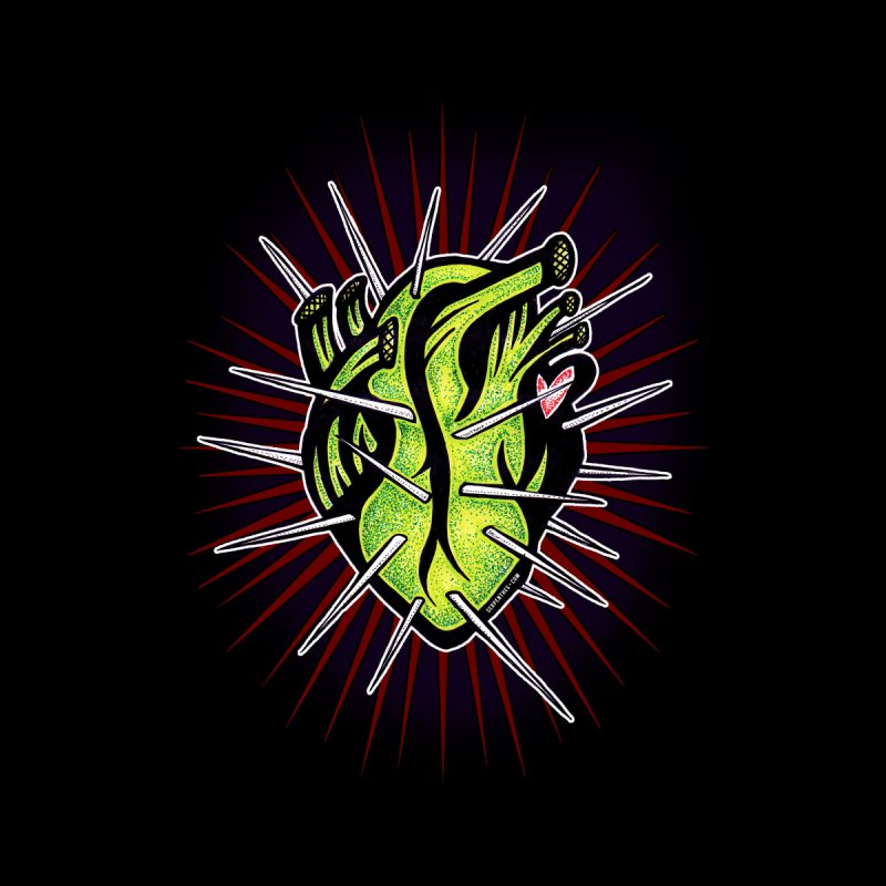 Corazon de Nopal - NOIR Kids T-Shirt by serpenthes's Artist Shop