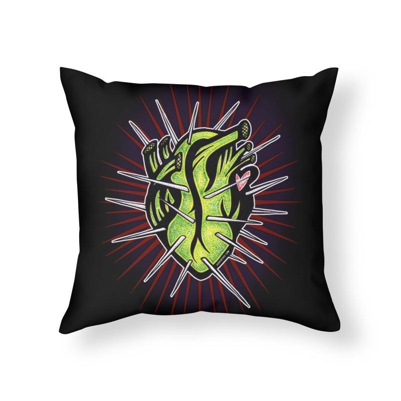 Corazon de Nopal - NOIR Home Throw Pillow by serpenthes's Artist Shop