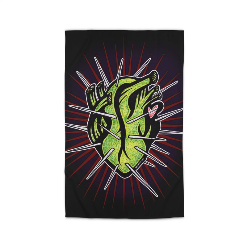 Corazon de Nopal - NOIR Home Rug by serpenthes's Artist Shop