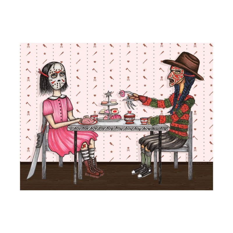 J's Tea Party on Elm Street Women's T-Shirt by serpenthes's Artist Shop