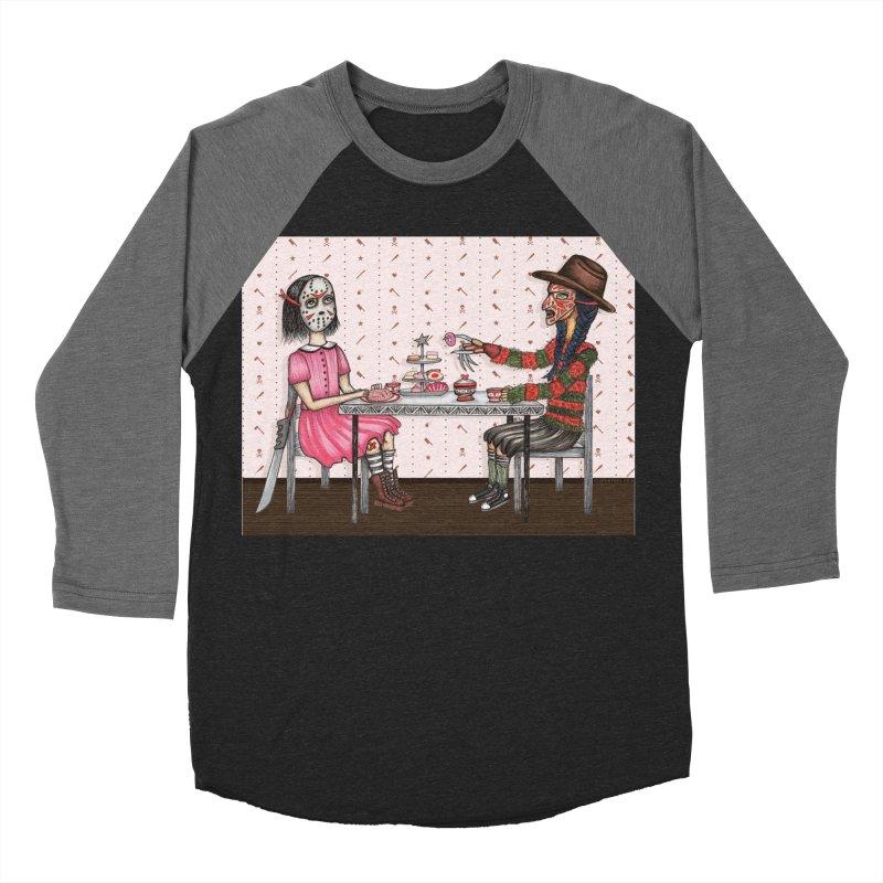J's Tea Party on Elm Street Men's Baseball Triblend Longsleeve T-Shirt by serpenthes's Artist Shop