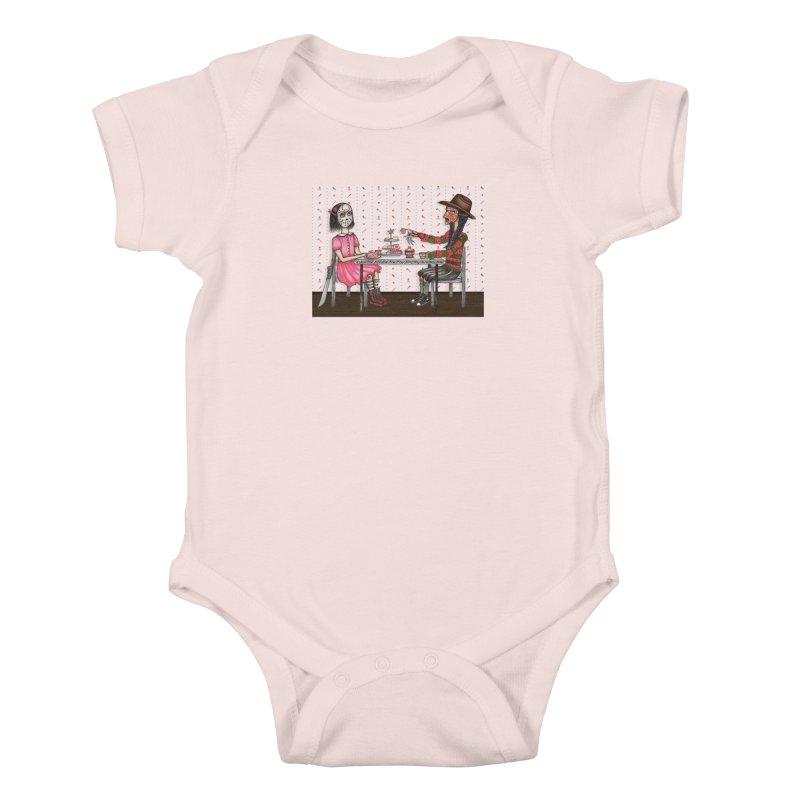 J's Tea Party on Elm Street Kids Baby Bodysuit by serpenthes's Artist Shop